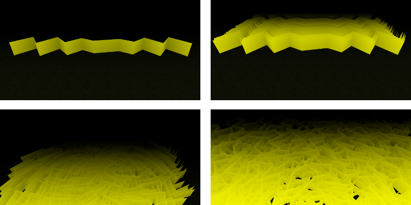 Countless Blades of Waving Grass in Three js